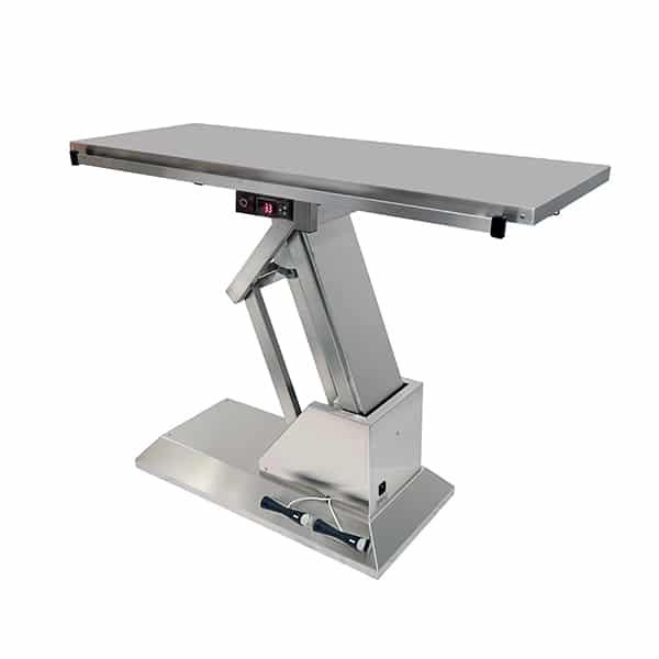 TA701000 Table chirurgie plateau chauffant plat INOX 1400x530 (Proclive - déclive électrique) N3