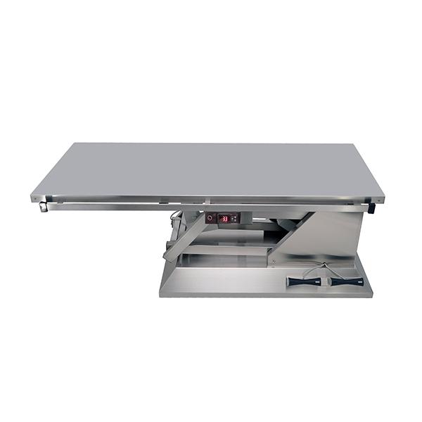 TA701000 Table chirurgie plateau chauffant plat inox 1400x530 (Proclive - déclive électrique) N1