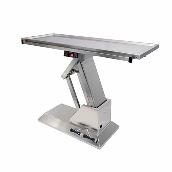 TA701001 Table chirurgie plateau chauffant 1 évacuation 1400x530 (Proclive - déclive électrique) N3