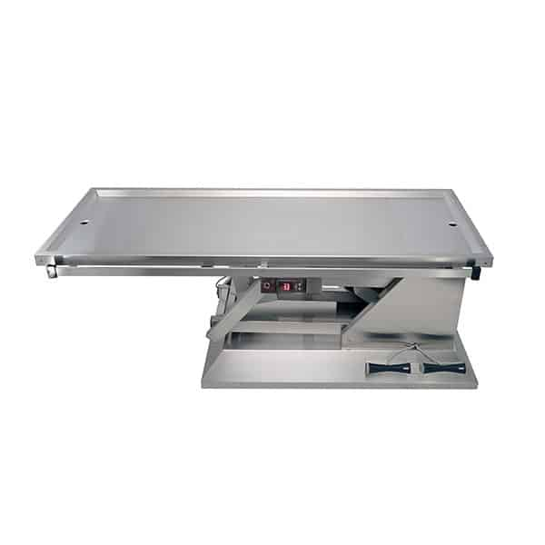 Surgery table with Warming plate with two drains