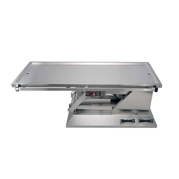 TA701005 Table chirurgie plateau chauffant 2 évacuations 1400x530 (Proclive - déclive électrique) N1