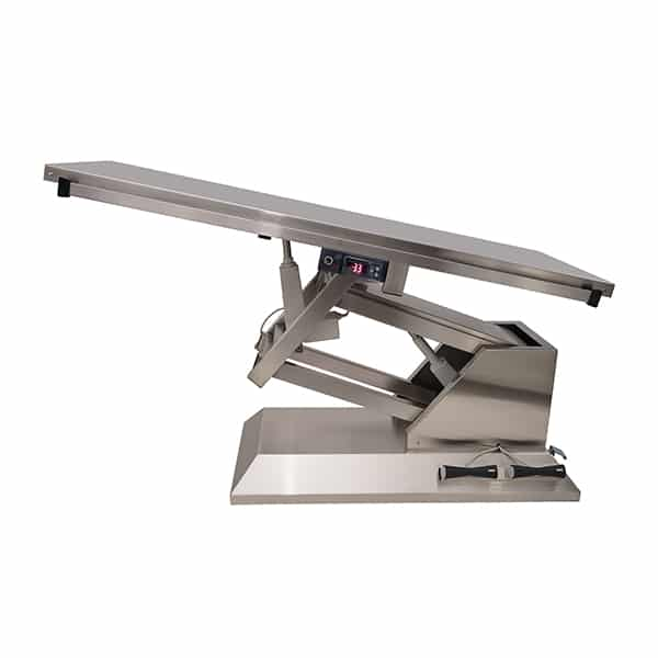 TA701010 Table chirurgie plateau chauffant plat 4 roues 1400x530 (Proclive - déclive électrique) N2