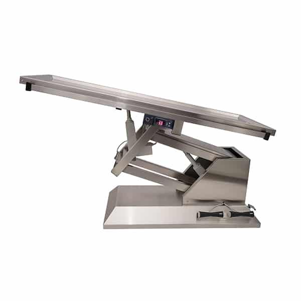 TA701011 Table chirurgie plateau chauffant 1 évac 4 roues 1400x530 (Proclive - déclive électrique)N2