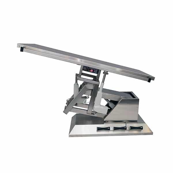 TA701100 Table chirurgie plateau chauffant plat 1400x530 (Proclive - déclive électrique) inclinaison 3e sens N3