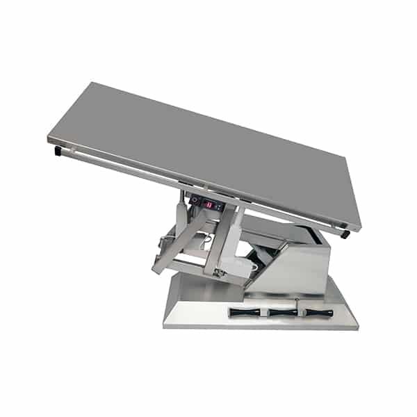 TA701100 Table chirurgie plateau chauffant plat 1400x530 (Proclive - déclive électrique) inclinaison 3e sens N4