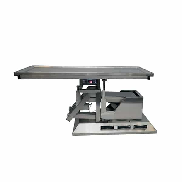 TA701101 Table chirurgie plateau chauffant 1 évac 1400x530 (Proclive - déclive électrique) 3e sens N1