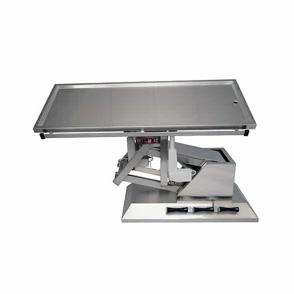 TA701101 Table chirurgie plateau chauffant 1 évac 1400x530 (Proclive - déclive électrique) 3e sens N2