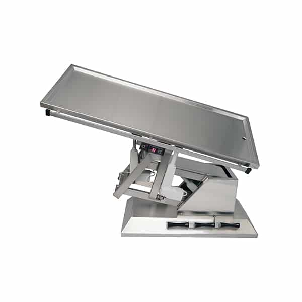 TA701101 Table chirurgie plateau chauffant 1 évac 1400x530 (Proclive - déclive électrique) 3e sens N3