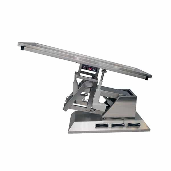 TA701105 Table chirurgie plateau chauffant 2 évac 1400x530 (Proclive - déclive électrique) inclinaison 3e sens N3