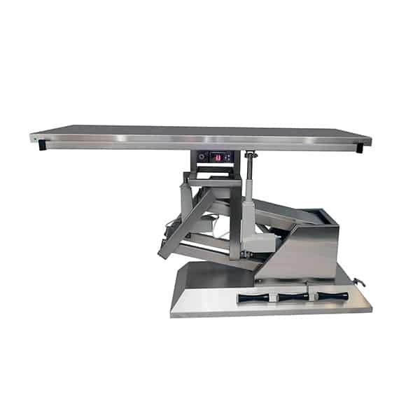TA701110 Table chirurgie plateau chauffant plat 4 roues 1400x530 (Proclive - déclive électrique) inclinaison 3e sens N2