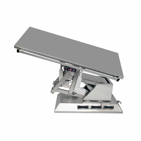 TA701110 Table chirurgie plateau chauffant plat 4 roues 1400x530 (Proclive - déclive électrique) inclinaison 3e sens N5