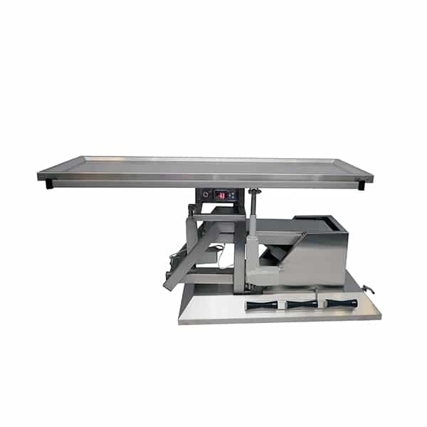 TA701111 Table chirurgie plateau chauffant 1 évacuation 4 roues 1400x530 (Proclive - déclive électrique) inclinaison 3e sens N1