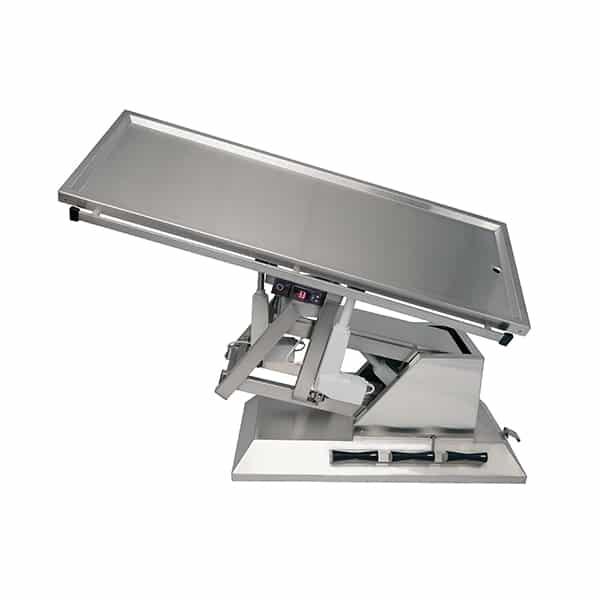 TA701111 Table chirurgie plateau chauffant 1 évacuation 4 roues 1400x530 (Proclive - déclive électrique) inclinaison 3e sens N3
