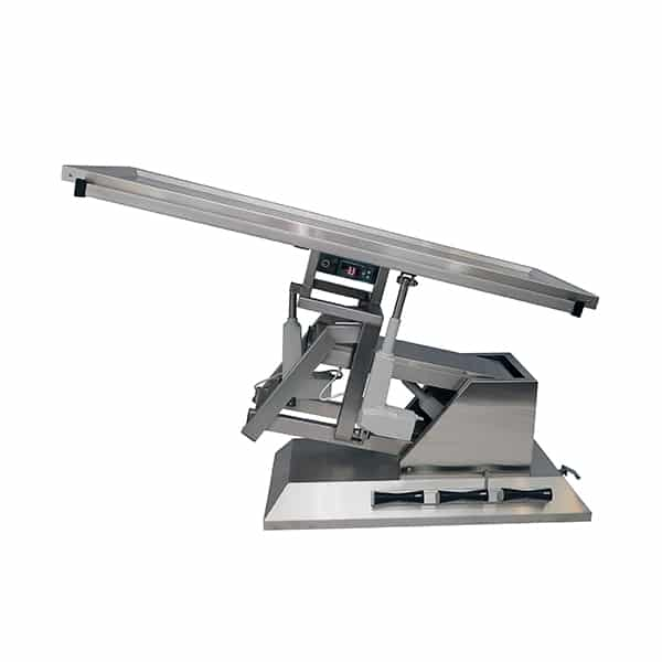 TA701115 Table chirurgie plateau chauffant 2 évac 4 roues 1400x530 (Proclive - déclive électrique) 3e sens N3