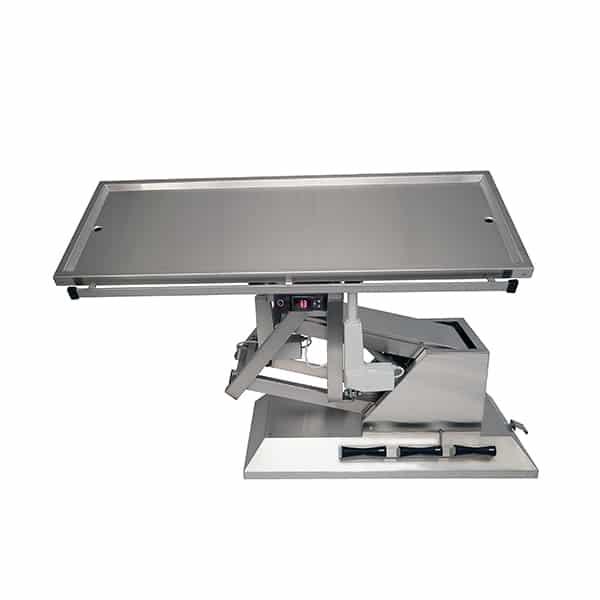 TA701115 Table chirurgie plateau chauffant 2 évac 4 roues 1400x530 (Proclive - déclive électrique) 3e sens N4