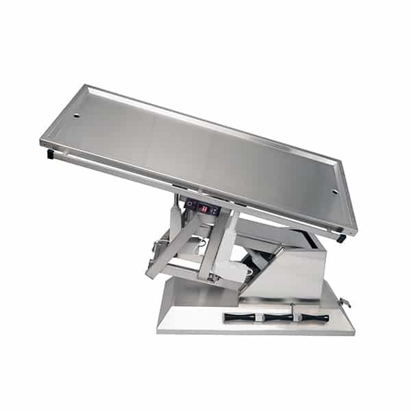 TA701115 Table chirurgie plateau chauffant 2 évac 4 roues 1400x530 (Proclive - déclive électrique) 3e sens N5