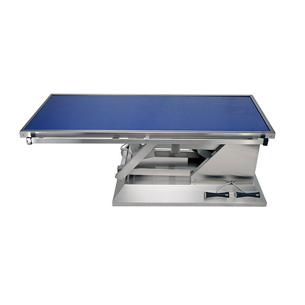 Surgery table with flat radiology table top