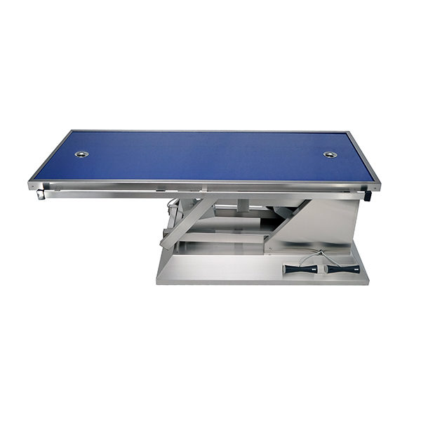 Surgery table with radiology table top two evacuations