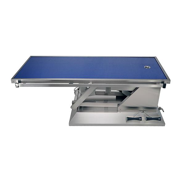 TA703011 Table chirurgie plateau Radiologie 1 évacuation 4 roues 1400x530 (Proclive - déclive électrique)N1