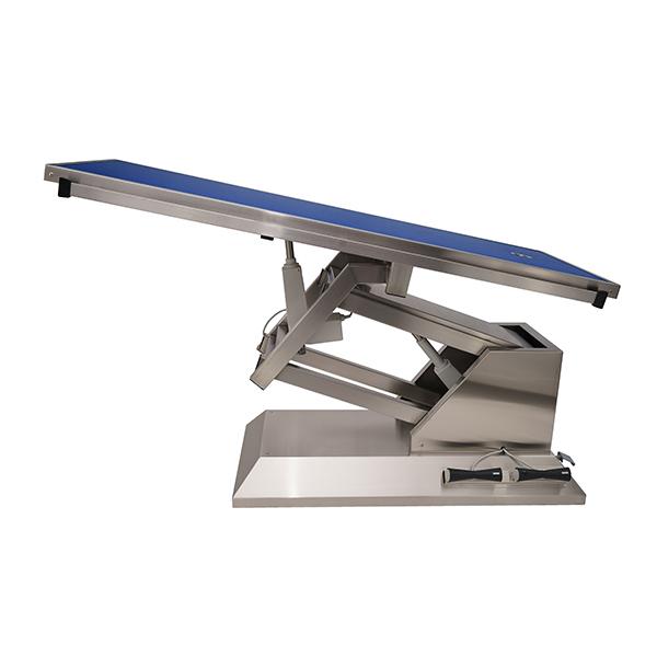TA703011 Table chirurgie plateau Radiologie 1 évacuation 4 roues 1400x530 (Proclive - déclive électrique)N2