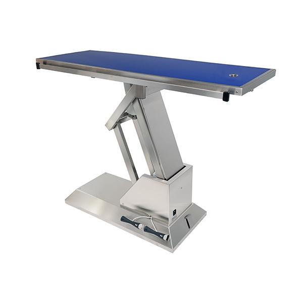 TA703011 Table chirurgie plateau Radiologie 1 évacuation 4 roues 1400x530 (Proclive - déclive électrique)N3
