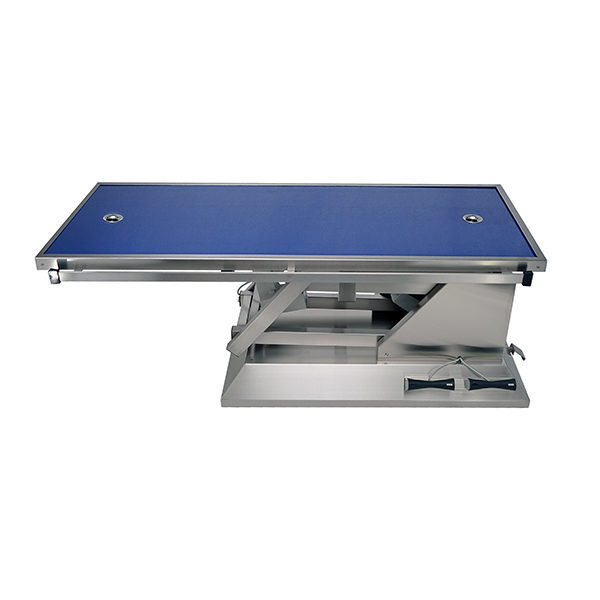 Surgery table with wheels and radiology table top two evacuations