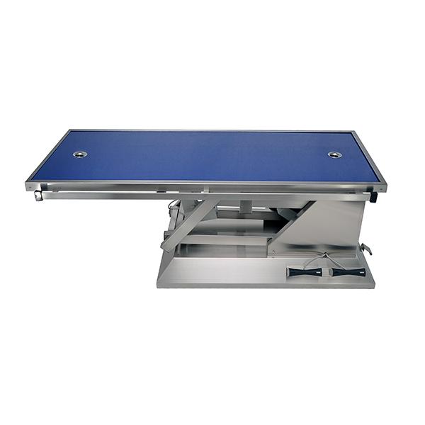 TA703015 Table chirurgie plateau Radiologie 2 évacuations 4 roues 1400x530 (Proclive - déclive électrique) N1