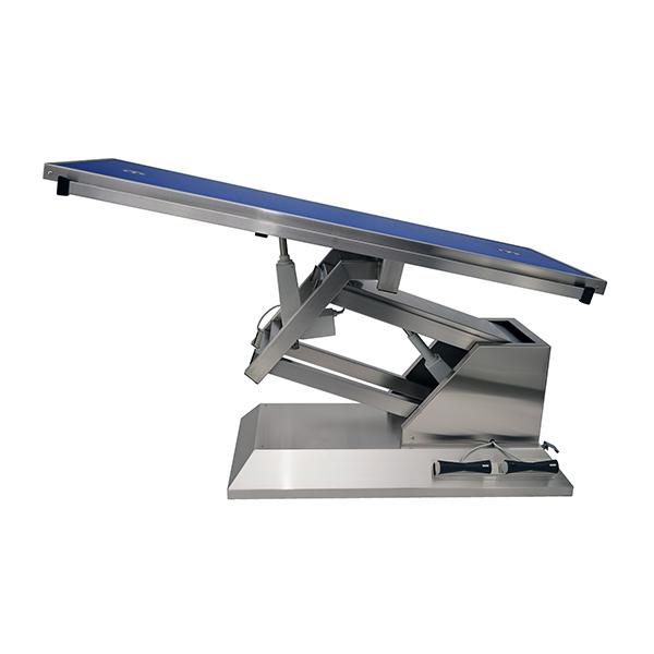 TA703015 Table chirurgie plateau Radiologie 2 évacuations 4 roues 1400x530 (Proclive - déclive électrique) N2