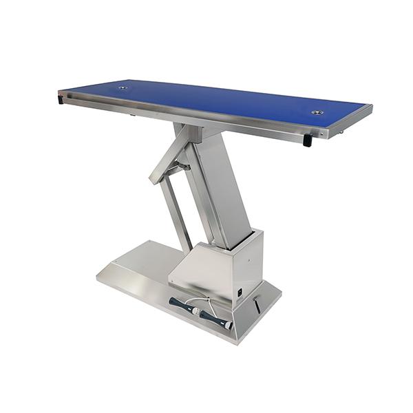 TA703015 Table chirurgie plateau Radiologie 2 évacuations 4 roues 1400x530 (Proclive - déclive électrique) N3