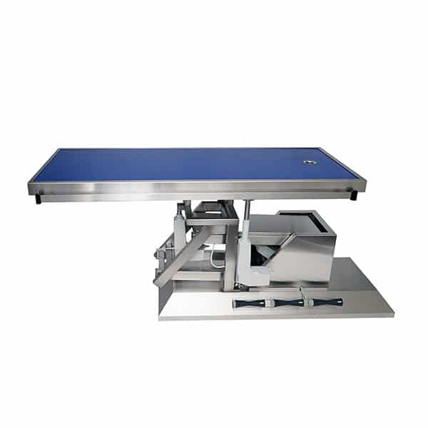 Surgery table with third direction inclination and radiology table top one evacuation