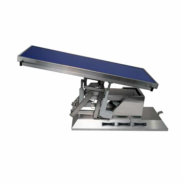 TA703110 Table chirurgie plateau Radiologie plat 4 roues 1400x530 (Proclive - déclive électrique) inclinaison 3e sens N3