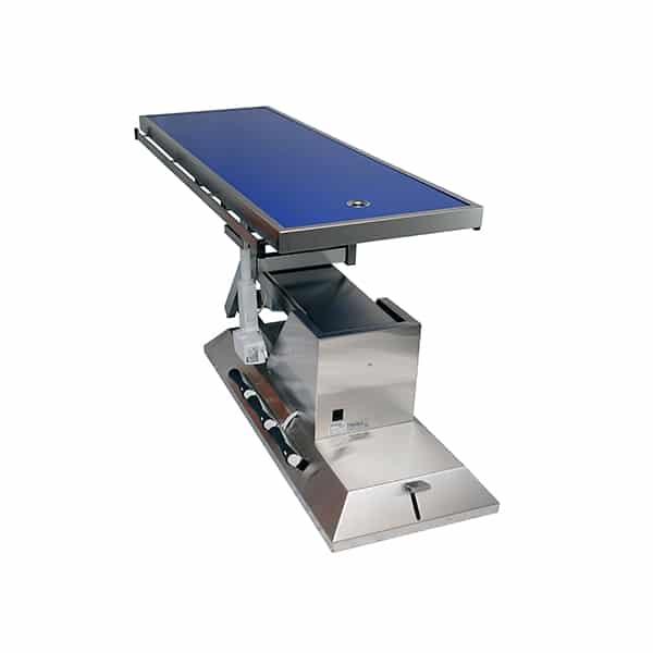 TA703111 Table chirurgie plateau Radiologie 1 évac 4 roues 1400x530 (Proclive - déclive électrique) 3e sens N4