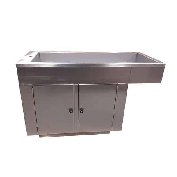 TA170010 - Table de préparation plateau barreaux avec 2 portes et habillage