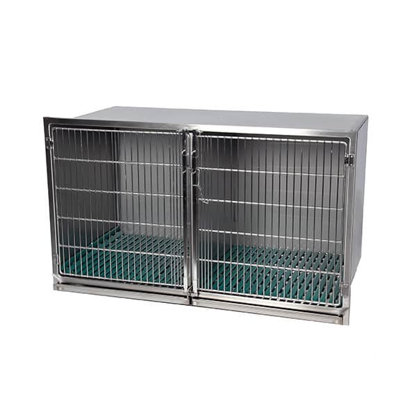 Stainless steel cage – Format C – with stainless steel grid door