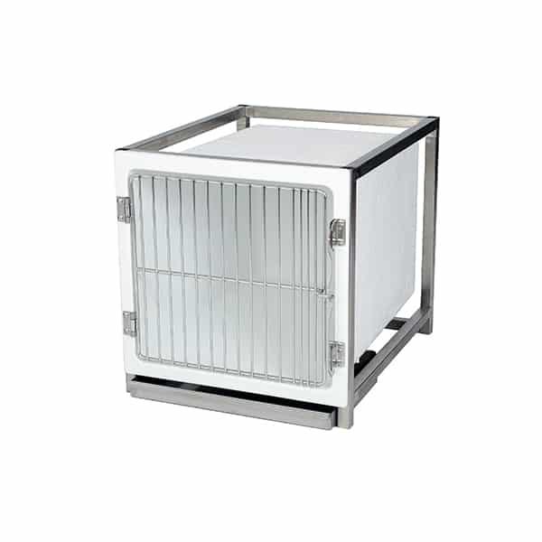 CP200000 Cage polyester A avec porte grille inox L490 H510 P610