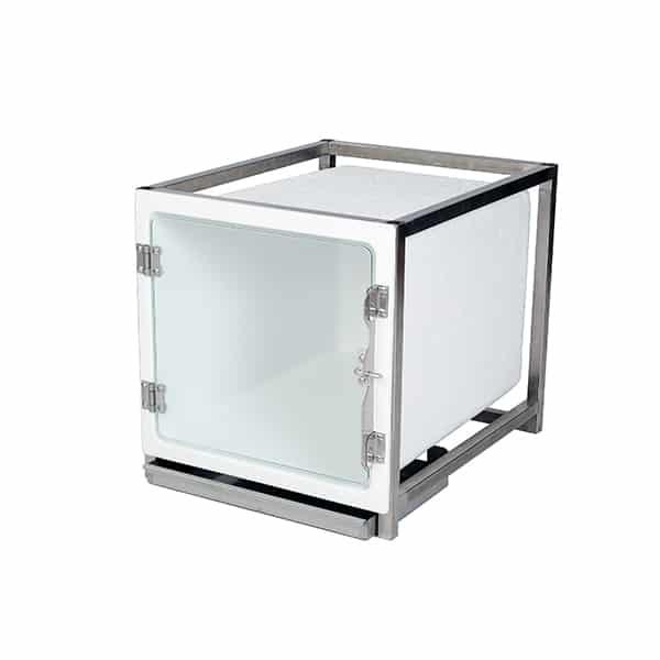 CP200005 Cage polyester A avec porte en verre L490 H510 P610