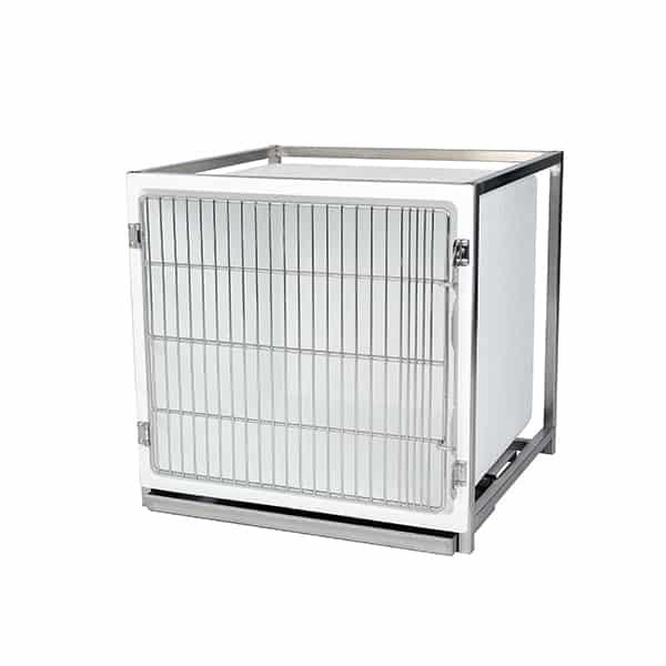 CP200010 Cage polyester B avec porte grille inox L735 H710 P700