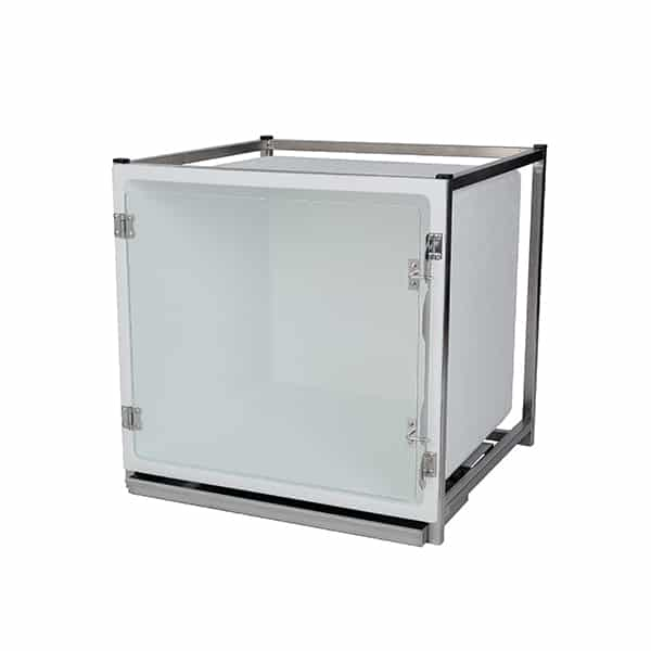 CP200015 Cage polyester B avec porte en verre L735 H710 P700