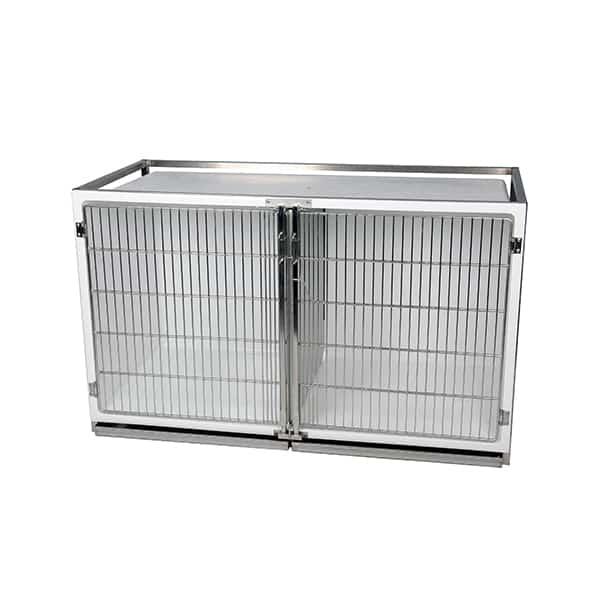 CP200020 Cage polyester C avec porte grille inox L1470 H880 P700