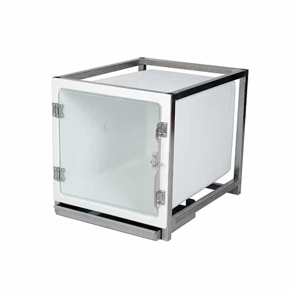 CP200105 Cage polyester A avec porte en verre L490 H510 P611 avec trou oxygène (sans Embout O² Fix AC00010)