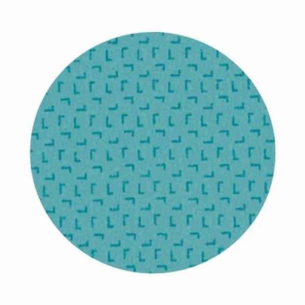 tapis turquoise à motifs