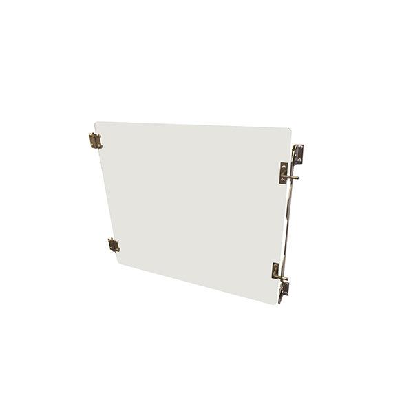 Puerta de cristal para jaula de acero inoxidable D
