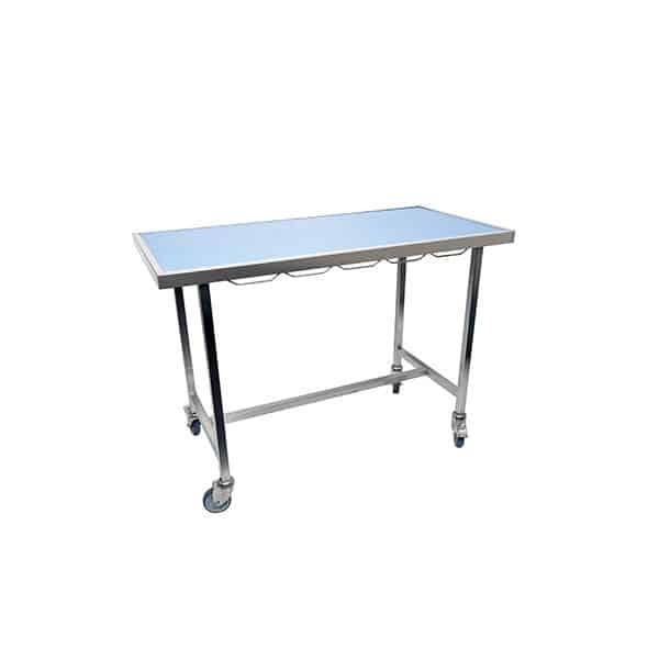 Table de consultation plateau tapis et cadre avec roues