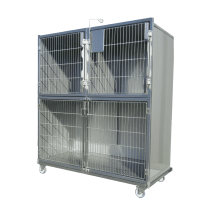 ensemble de cages veterinaires